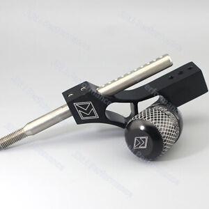 Black Aluminum Shift Knob Extender Adjustable Shifter Lever+Shift Knob
