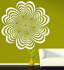 Wall Stickers Vinyl Decal Drawing Elements Flower Optical Illusion (n203)