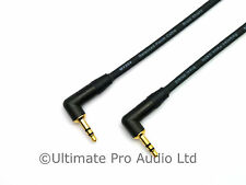 2m De Ángulo Recto De 3,5 Mm Mini Jack Cable Neutrik ntp3rc-b Oro Negro contactos