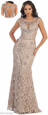 NEW LACE FORMAL DESIGNER DRESS EVENING UNIQUE PROM GOWN PAGEANT RED CARPET PARTY