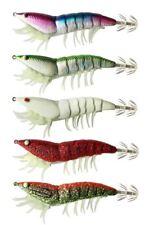 3 x Shrimp Fishing Lures  Luminous Leg Squid Jigs,  Fishing Tackle