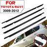 4PC Door Auto Window Trim Moulding Belt Weatherstrip For Toyota RAV4  🔥 ✌