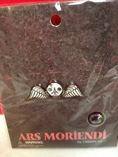 Creepy Co ARS Moriendi Cemetary Angel Enamel Pin Wilting Wisteria White