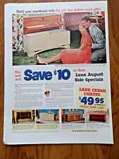 1952 Lane Cedar Hope Chest Ad Thrill Your Sweetheart with the Gift Gathers More