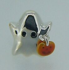 2020-1041 CHAMILIA STERLING SILVER ENAMEL GHOST WITH PUMPKIN BEAD NEW IN POUCH