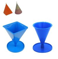 Set x 2, 4 Sided Tapered Pyramid Shape & Cone Shaped Candle Moulds Molds. S7683