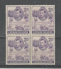 CAYMAN ISLANDS 1938 GEORGE 6TH 2d VIOLET BLOCK OF 4 SG,119 U/ MINT LOT 829B