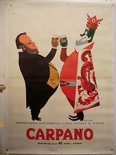 A. TESTA BRINDISI RE CARPANO con CAVOUR ed. 1956 manif. TELATO originale