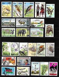 Kenya .. Used postage stamp collection .. 6899