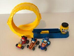 Disney Mattel Mickey and Roadster Racers Mustard Run Loop Race Track Set 3 Cars