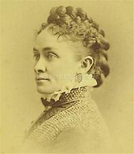 CABINET CARD PHOTO: Captivating LIGHT SKIN Black AFRICAN AMERICAN WOMAN ID'd