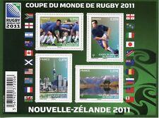 TIMBRE FRANCE NEUF BLOC  FEUILLET N° F4576 ** SPORT COUPE DU MONDE DE RUGBY 2011