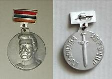 ARMENIA ZORAVAR ANDRANIK OZANYAN WITH ARMENIAN FLAG TWO SIDED BADGE BUTTON MEDAL