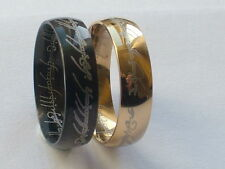 S/Steel, Lord Of The Rings Ring, The One,Men's Women, New Band ALL SIZES J-Z+4