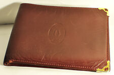 Cartier portafoglio wallet vintage bordeaux burgundy