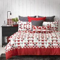 Bianca Floyd Red Doona|Duvet|Quilt Cover Set in All Sizes
