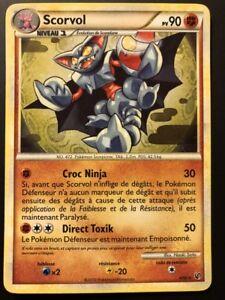 Carte Pokemon SCORVOL 4/90 Holo HGSS INDOMPTABLE FR NEUF