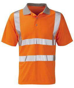 Hi Vis Hi Visibility Rail Spec Polo Shirt - Hi Viz Orange - HVPSR