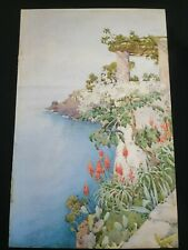Ella Du Cane (1874-1943) 'Red aloes. Madeira' watercolour painting English