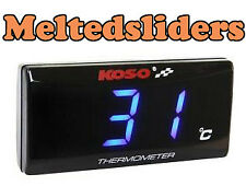 Koso Race Track Bike Slimline Water Coolant Oil Temperature Temp Gauge GSXR R1