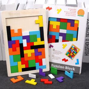 Eco Wooden Tangram Brain Teaser Puzzle Game Educational Toy Kid Intelligence Kit
