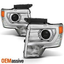 Fit [Halogen] 2009-2014 Ford F150 F-150 Pickup Chrome Projector Headlights