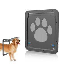 4-Way Lockable Plastic For Pet Big Dog Cat Door Screen Window Safety Flap Gates