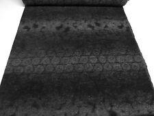 ☻ Stoff Ital. Musterwalk gek. Wolle Kreise Abstrakt Rapport schwarz grau ☻