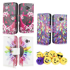 For Jitterbug Smart 2/ Wallet Case/ Kickstand/ Wrist Strap/ Emoji Keychain