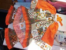 3 pc capri Set  Handmade Thanknsgivin Day Pumpkin  Hurvest  Size 5t  Ruffles