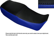 ROYAL BLUE & BLACK CUSTOM FITS SUZUKI GS 450 E DUAL LEATHER SEAT COVER ONLY