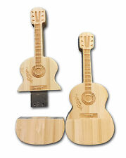 Gitarre Akustik aus Holz - USB Stick / 8 GB Speicher / Speicherstick Flash drive