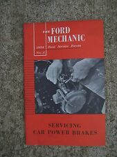 1954 Ford Service Forum Mechanic Manual Servicing Car Power Brakes Auto  R
