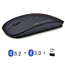 3 Mode 2.4Ghz Wireless + Bluetooth 2 Wireless Mouse Ultra-thin Portable Mice