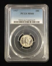 1937 Mercury Head Dime PCGS MS66