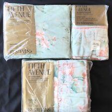 Vtg Stevens Fifth Avenue Shabby Cottage Flowers Chic Full Size Sheet Set Lace