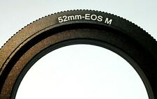 52mm Macro Reverse Adapter Ring for Canon EOS M M2 EF-M mount mirrorless cameras