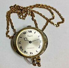 Vintage SHEFFIELD Necklace Watch - Running