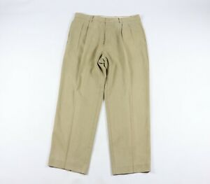 Tommy Bahama Relax Mens Size 36x28 Pleated Silk Rayon Casual Dress Pants Khaki