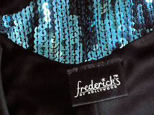 FREDERICK'S of HOLLYWOOD ShortSequinStripedPartyVneckSizeS NEW*