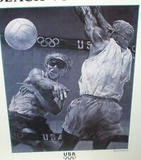 """STEVE HOLLAND """"BEACH VOLLEYBALL 1996 US OLYMPIC TEAM OFFICIAL POSTER"""