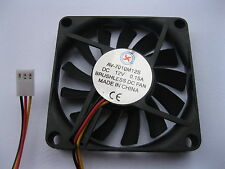 4 pcs Brushless DC Cooling Fan 13 Blade 12V 7010S 70x70x10mm 3 wire