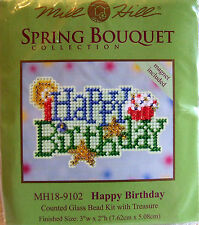 Mill Hill Counted Cross Stitch Bead Kit 'Happy Birthday' 18-9102