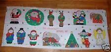 Sue Dreamer Christmas Applique Cut Out Garment Wearable Art Cotton Fabric Panel