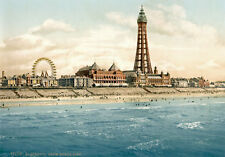 "P10 Vintage 1890's Photochrom Photo N.Pier Blackpool Tower - Print A3 17""x12"""