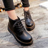 Women's shoes solid leather boots non-slip thermal ankle waterproof platform HF