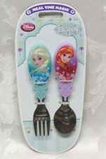NEW Disney Frozen Elsa & Anna Flatware Meal Time Magic Spoon & Fork Utensils