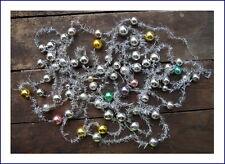 Christbaumkette - 6 Tinselketten mit  Glaskugeln - 7,6 m   (# 6022)