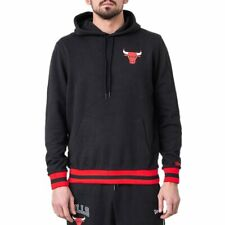 Sudadera capucha New Era Nba Chicago Bulls Stripe Rib Negro Hombre