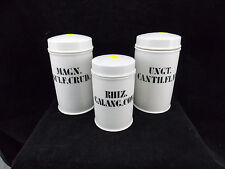 LOT N°1 - 3 ANCIENS POTS A PHARMACIE XIX° EN PORCELAINE DE PARIS-XIX°